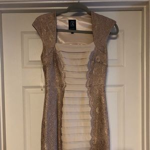 New w/ Tags Gold JAX dress